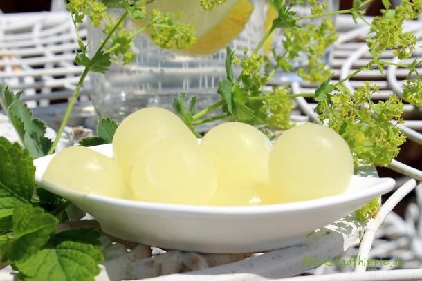 Zitronensaft in Portionen einfrieren