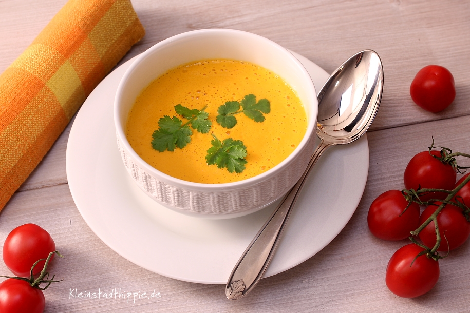 Tomatencremesuppe roh - rohr, vegane Tomantensuppe