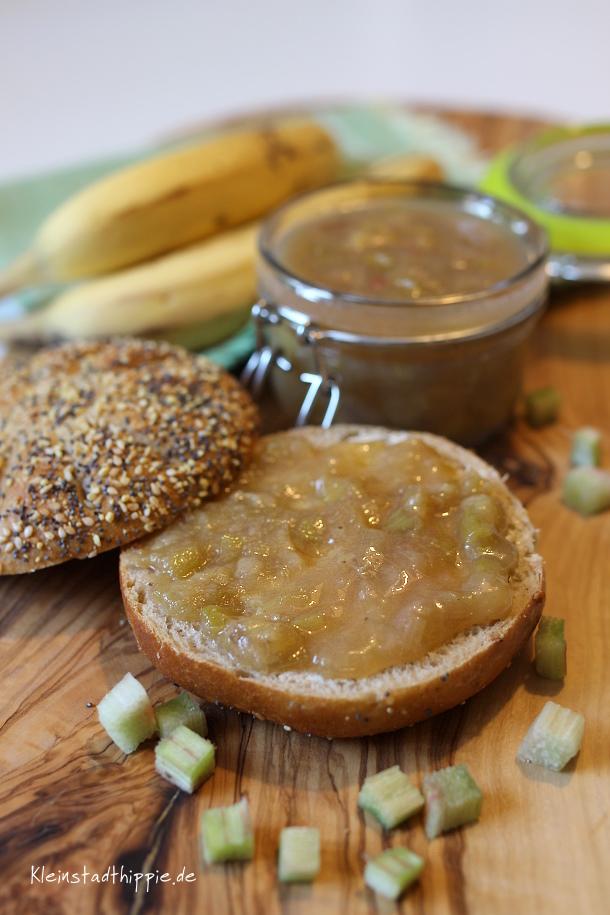 Rhabarber-Bananen-Marmelade von Kleinstadthippie vegan food blog