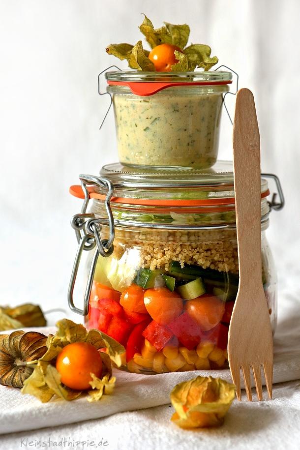 salat to go mit physalis und bulgur vegane rezepte von. Black Bedroom Furniture Sets. Home Design Ideas