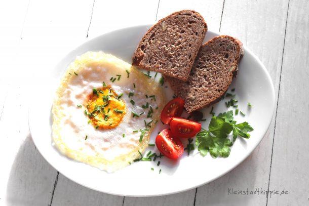 Veganes Spiegelei zum Frühstück