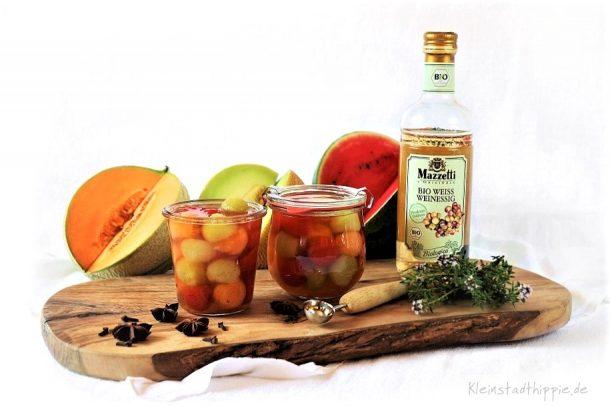 Melonen in Bio Weissweinessig von Mazzetti