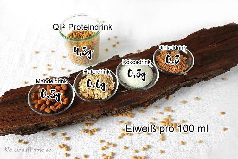Proteine in veganen Drinks - ein Vergleich