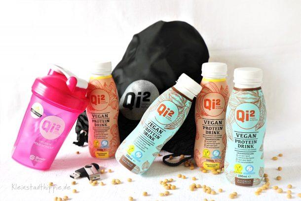 Gewinnspiel: vegane Proteindrinks, Beutel, USB-Stick und Shaker für euch!