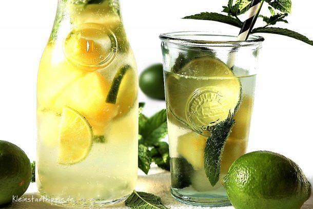 Minz-Ananas-Limetten-Limo