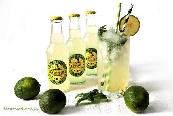 Grissini und Basil Lemonade mit Thomas Henry Ultimate Grapefruit