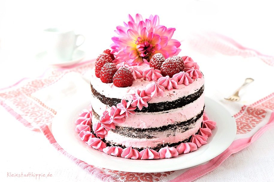 Himbeerschokotorte Naked Cake