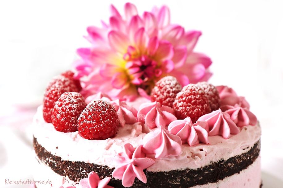 Semi Naked Cake Schokolade - Himbeere