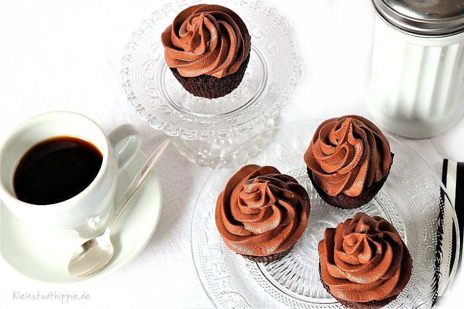 vegane Schokoladen Cupcakes