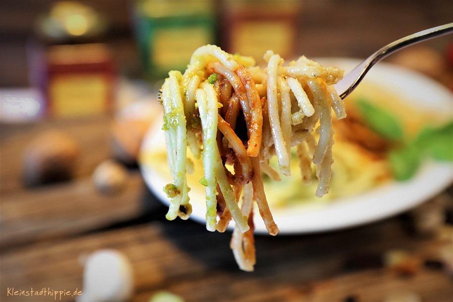 Pesto mit Spaghetti
