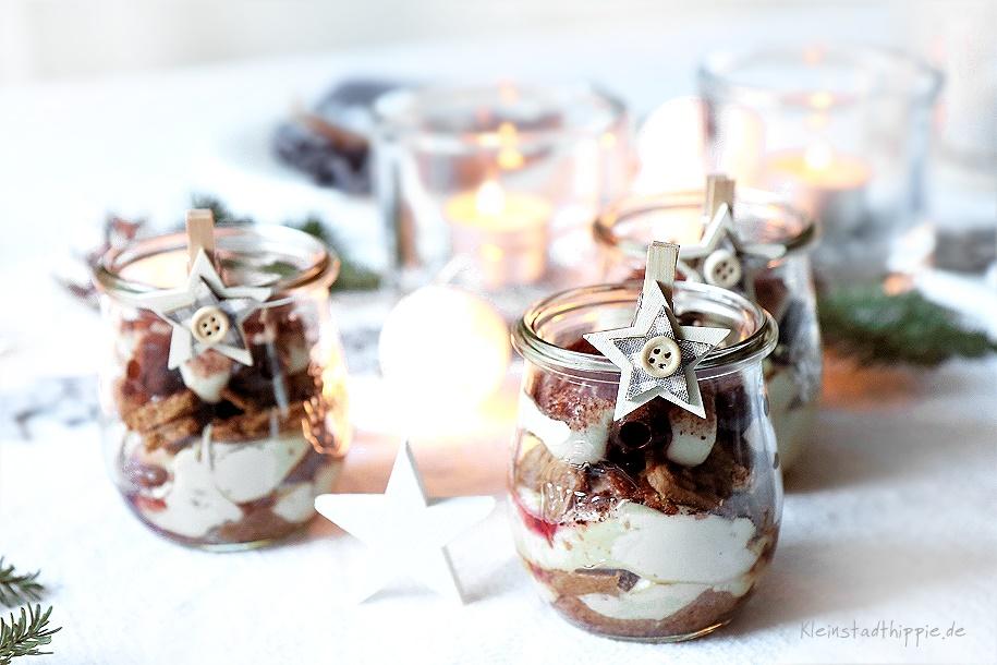 Dessert mit veganem Mascarpone