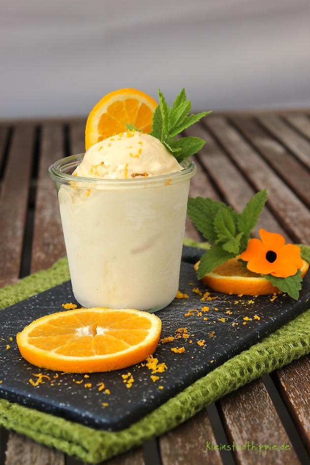 Karamell-Orangen-Eis
