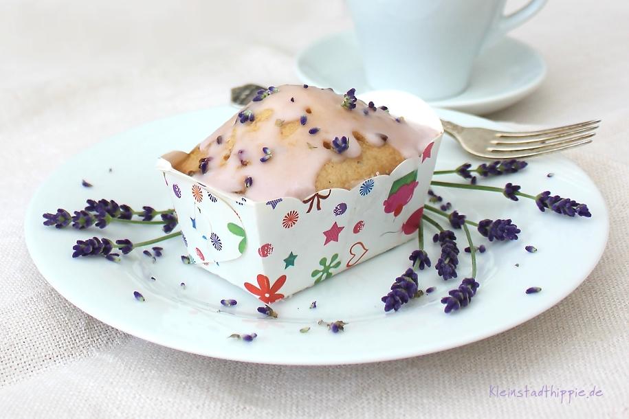 Lavendel-Zitronen-Kuchen - vegane Backrezepte von Kleinstadthippie