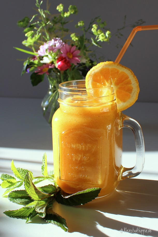 Smoothie Sommer in orange