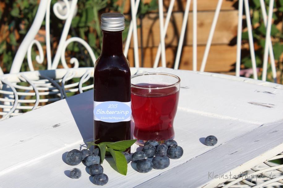 Heidelbeersirup – Blaubeersirup