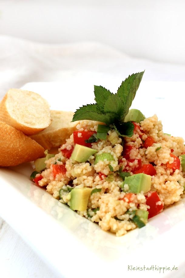 Couscoussalat mit Avocado von Kleinstadthippie Vegan Food Blog