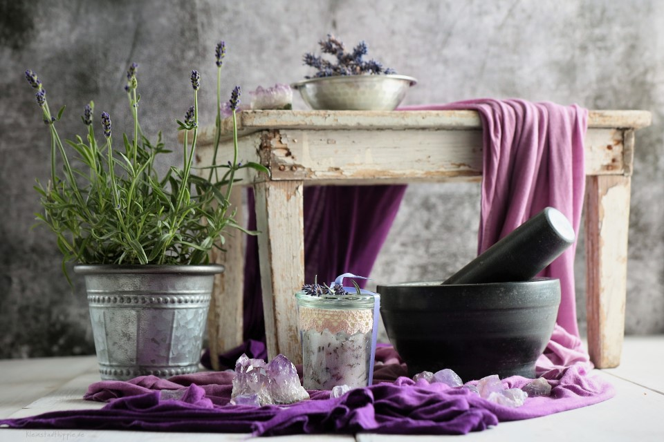 Lavendel-Kokos-Körperpeeling - Peeling DIY - Lavendelpeeling selbst gemacht