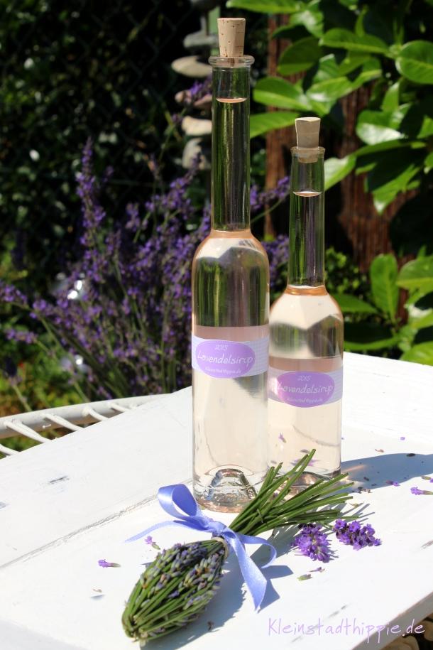 Lavendelsirup - Rezept für Lavendelsirup - Sirup selbst machen