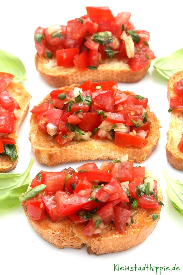 Bruschetta con pomodoro e basilico Rezept Antipasti