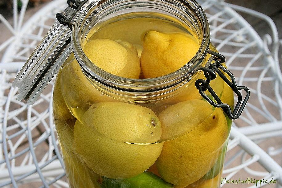 Zitronen frisch halten