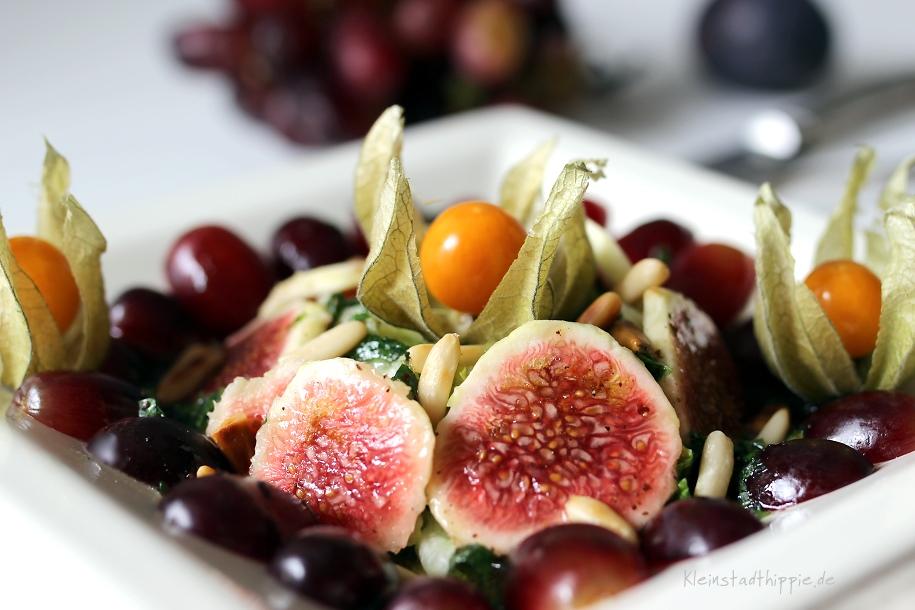 """Vorspeisensalat """"Sommer küsst Herbst"""" Salat mit frischen Feigen - Rezepte vegan von Kleinstadthippie"""