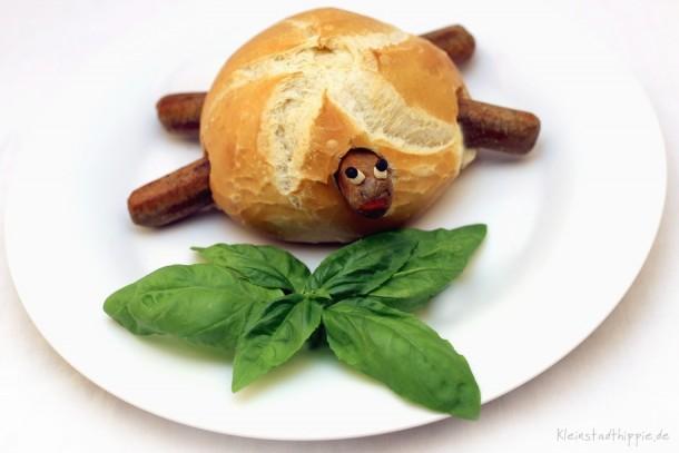 Hot Turtle - vegane Wurstsemmel für Kinder