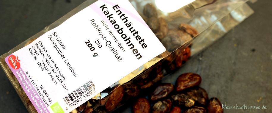 Schokopudding roh - Enthäutete Kakaobohnen, nicht fermentiert von Keimling