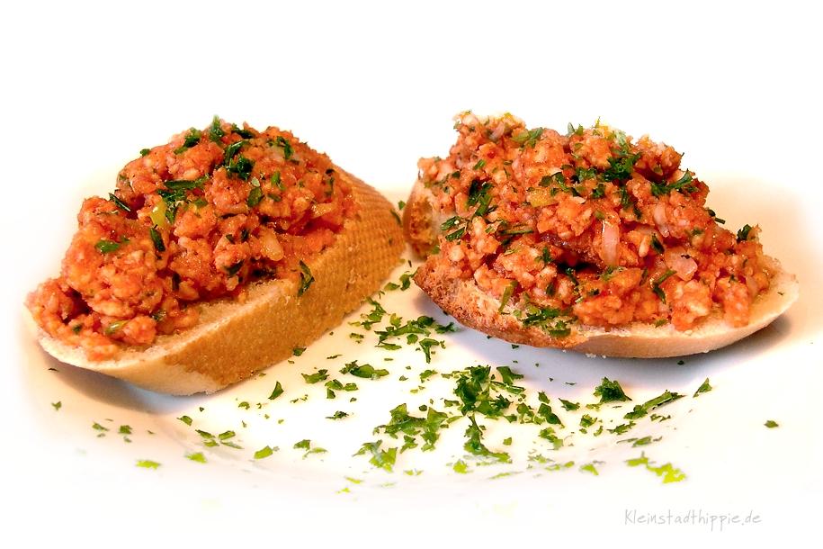 Vegane Mettbrötchen - veganes Fingerfood