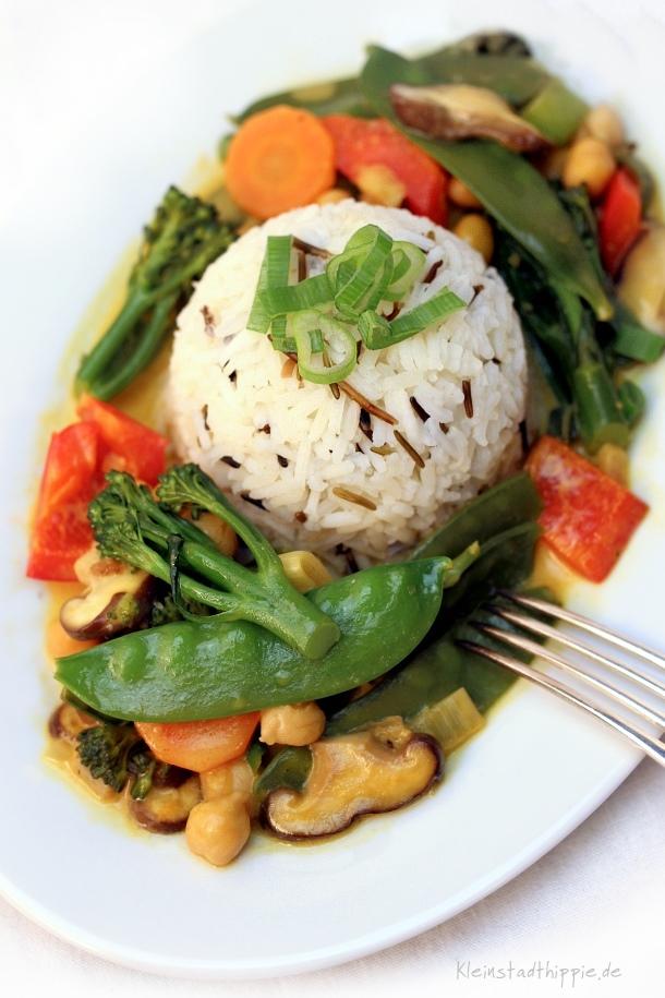 Gemüsecurry mit Shiitake