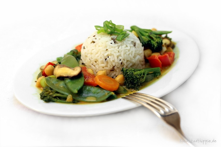 Gemüsecurry mit Shiitake - vegan kochen - vegane Rezepte