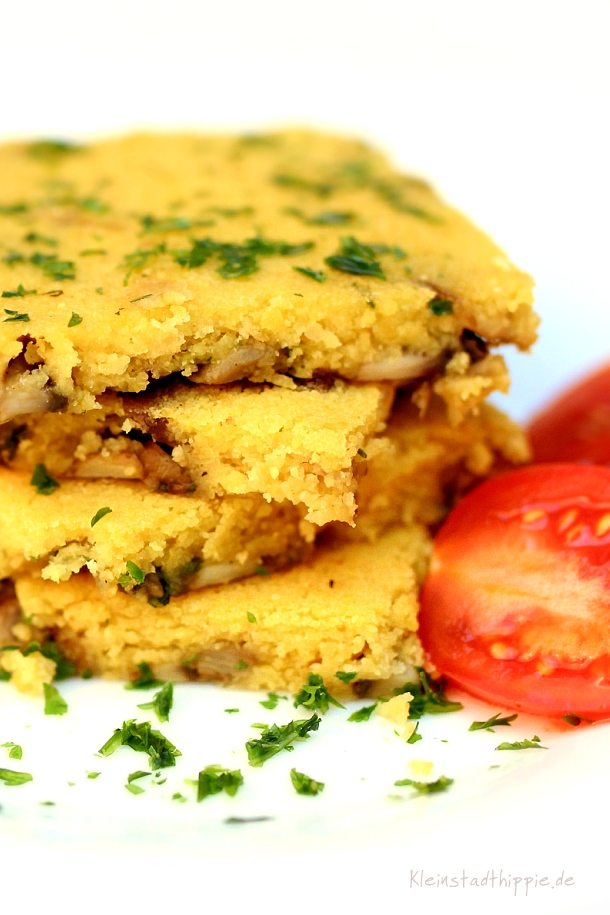 Farinata mit Champignons - vegane Rezepte von Kleinstadthippie
