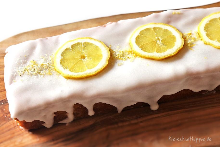 Zitronenkuchen vegan - veganer Zitronenkuchen