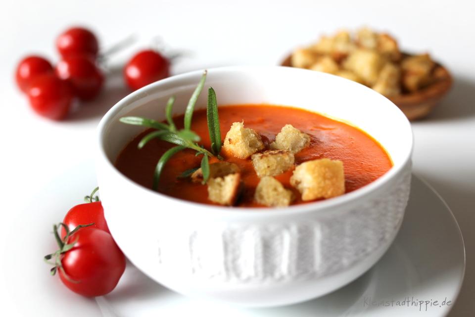Tomatensuppe mit Ciabatta