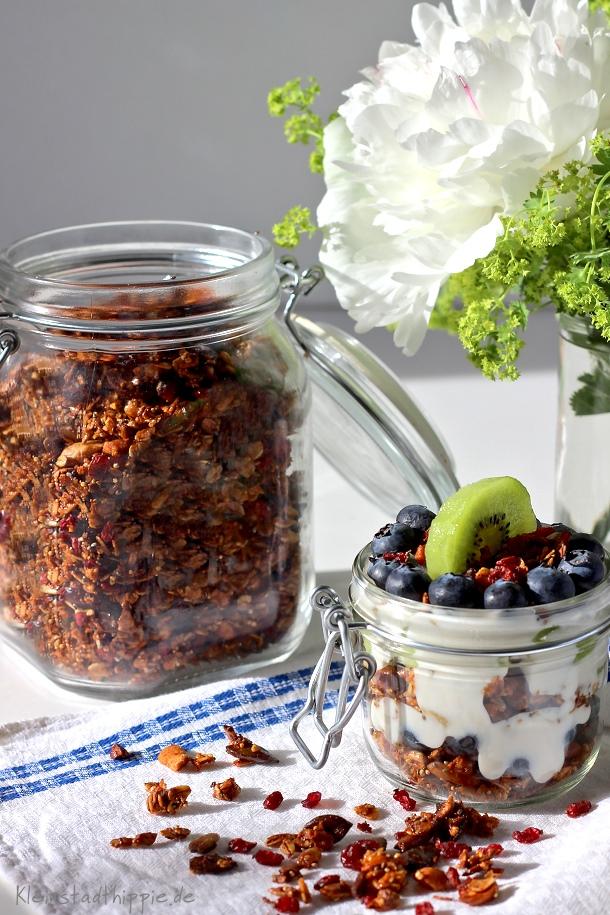 Granola Kuspermüsli - Granola Müslimischungen selber herstellen - Rezept für Granola