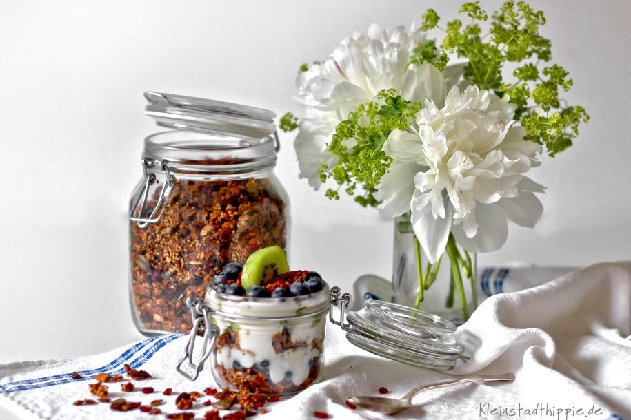 Granola / Knuspermüsli selbst gemacht - Müslimischungen selbst herstellen