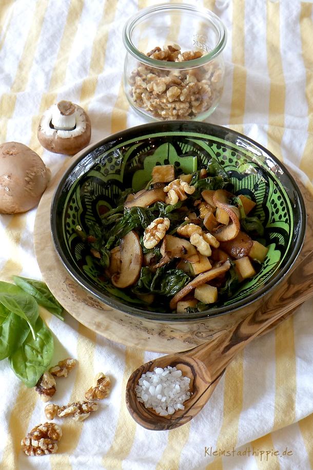 Kolumbianischer Spinatsalat - vegane Rezepte bei Multiple Sklerose