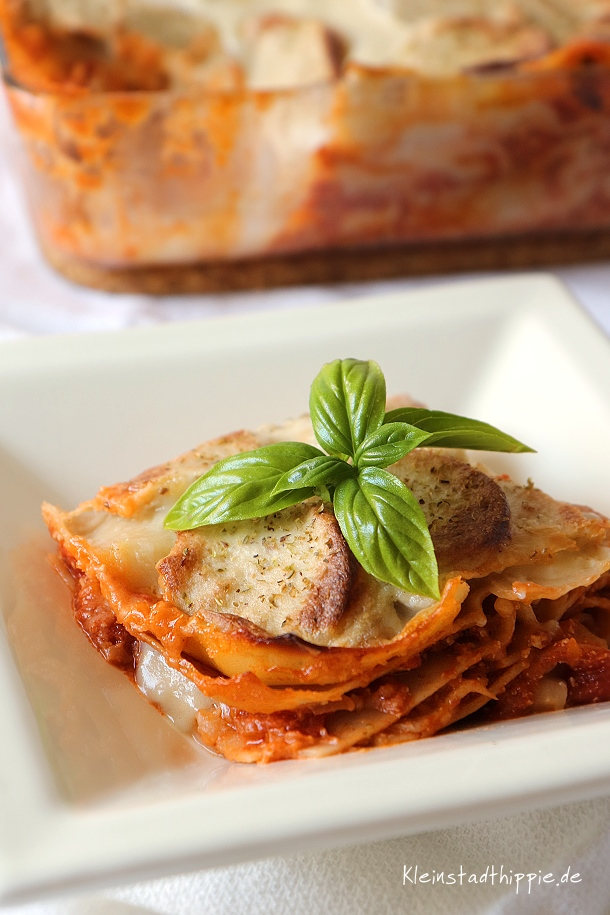 Vegane Lasagne ist so lecker :-)