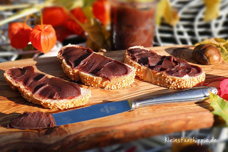 Maronenschokocreme - veganer Brotaufstrich