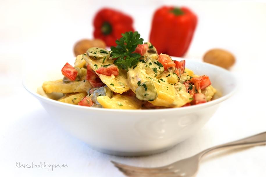 Bunter Kartoffelsalat - Rezepte vegan vegetarisch von Kleinstadthippie
