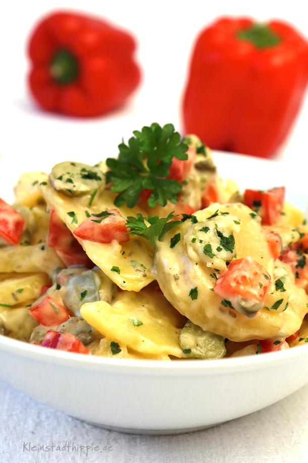 Rezept für einen bunten Kartoffelsalat