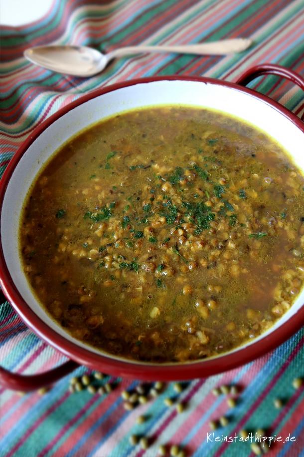 Mungbohnensuppe - In derAyurvedischen Küche sehr beliebt - vegane Rezepte
