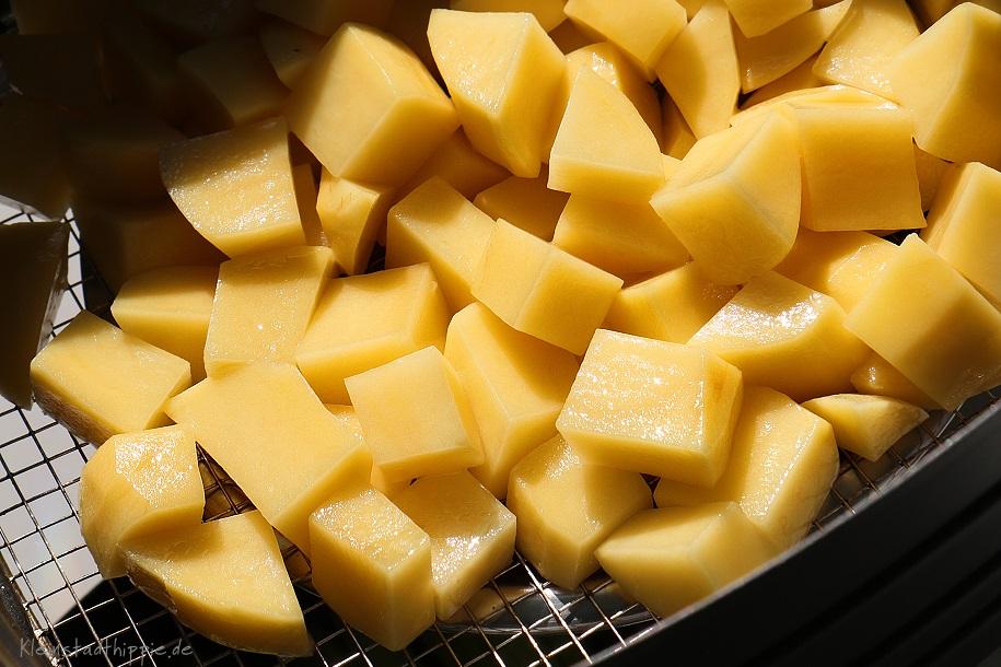 Kartoffelwürfelchen in 12 - 15 Minuten fertig
