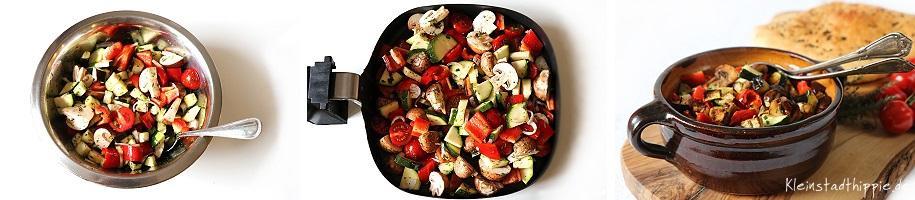 Mediterranes Gemüse aus dem Airfryer