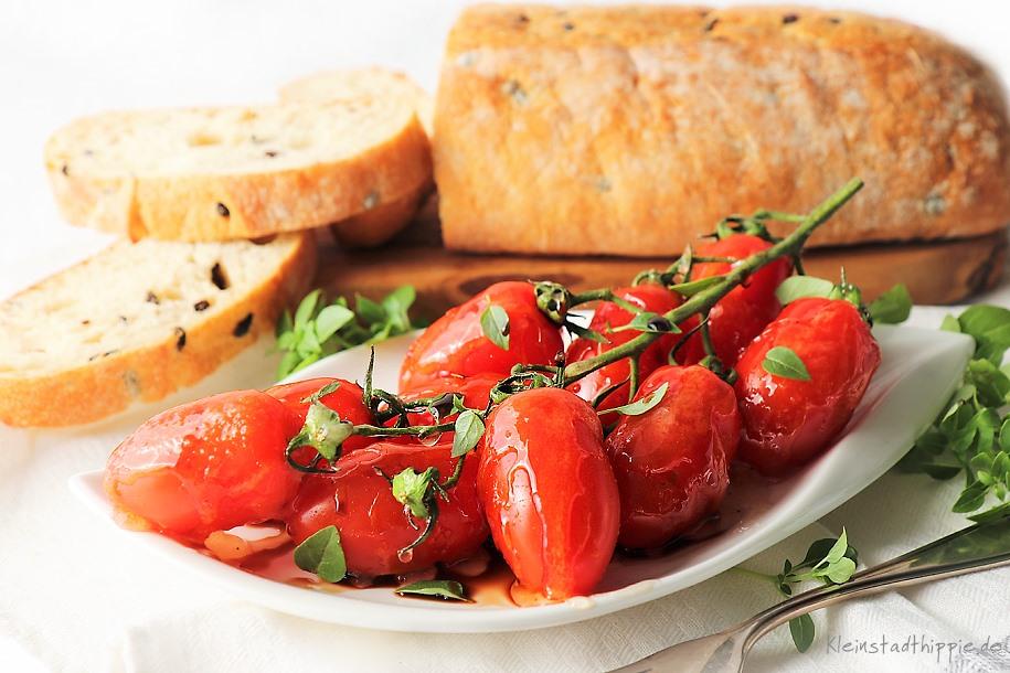 Karamellisierte Tomaten mit Gourmet-Basilikum