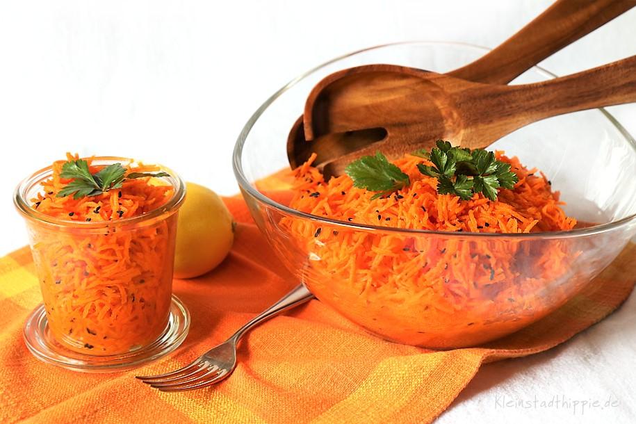 Karottensalat - Möhrensalat - Gelbe Rüben-Salat