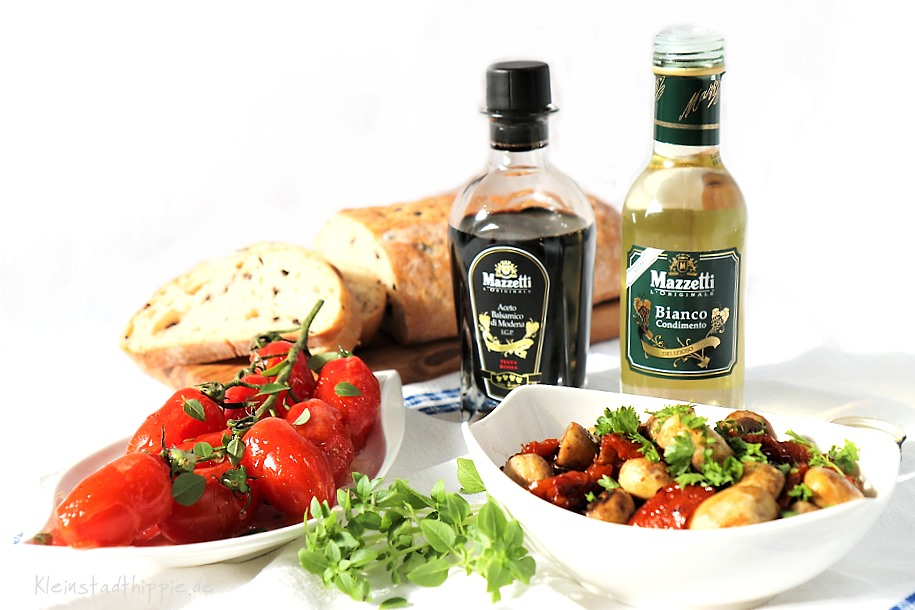 Zweierlei Antipasti mit veganem Essig von Mazzetti l'originale