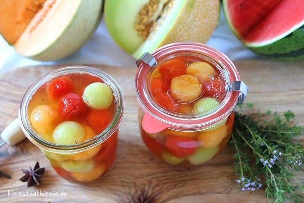 Eingelegte Melonen