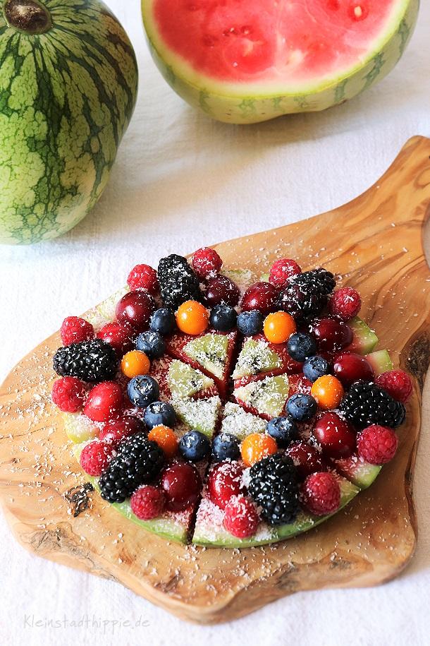 Obstpizza - als Dessert oder als leichte Mahlzeit