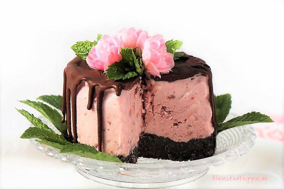 Cranberry-Eistörtchen - veganes Eistörtchen - vegane Eisrezepte von Kleinstadthippie