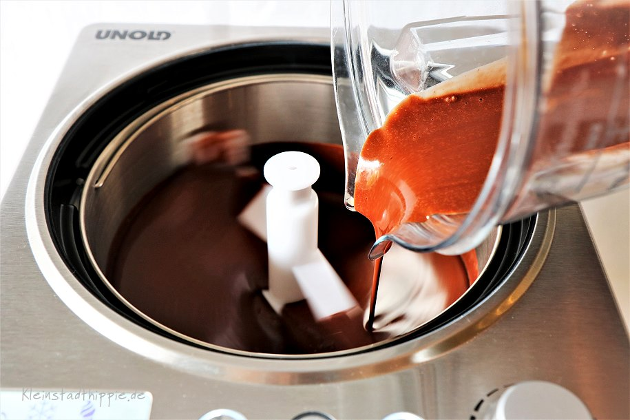 Schokoladeneis aus der Eismaschine von Unold - Profi 48870 Eismaschine Unold 48870
